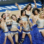 Efes Pilsen's show girls during their Turkish Basketball league match Efes Pilsen between Tofas at the Sinan Erdem Arena in Istanbul Turkey on Sunday 27 February 2011. Photo by TURKPIX