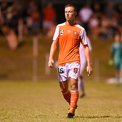 BRISBANE, AUSTRALIA - FEBRUARY 10: Danny Driver of the Roar looks on during the NPL Queensland Senior Mens Round 2 match between Gold Coast United and Brisbane Roar Youth at Station Reserve on February 10, 2018 in Brisbane, Australia. (Photo by Football Click / Patrick Kearney)
