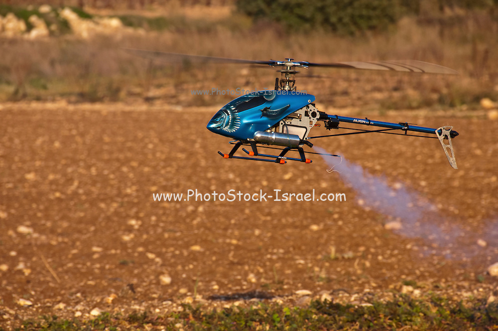 Radio controlled Model Helicopter in flight