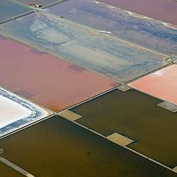 Aerial views of Ibiza Salt Ponds, Ibiza Spain