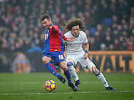 Crystal Palace's James McArthur tussles with Chelsea's David Luiz during the Premier League match at Selhurst Park Stadium, London. Picture date December 17th, 2016 Pic David Klein/Sportimage