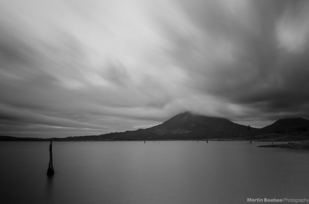 Arenal Volcano above Lake Arenal, near El Castillo, Costa Rica