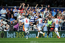 Queens Park Rangers' Leroy Fer celebrates his goal - Photo mandatory by-line: Dougie Allward/JMP - Mobile: 07966 386802 - 16/05/2015 - SPORT - football - London - Loftus Road - QPR v Newcastle United - Barclays Premier League