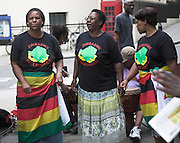 Protests are held in London every Saturday for democratic chnage in Zimbabwe. This set is from September 2007. Protests against Robert Mugabe, London, England