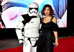 Myleene Klass attending the european premiere of Star Wars: The Last Jedi held at The Royal Albert Hall, London.