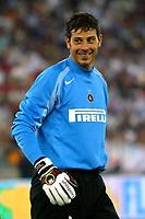 Bari 3/8/2004 Trofeo Birra Moretti - Juventus Inter Palermo. <br /> <br /> Francesco Toldo Inter <br /> <br /> Risultati / results (gare da 45 min. each game 45 min.) <br /> <br /> Juventus - Inter 1-0 Palermo - Inter 2-1 Juventus b. Palermo dopo/after shoot out <br /> <br /> Photo Andrea Staccioli