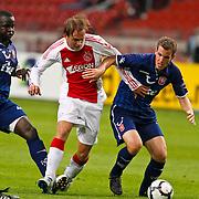 NLD/Amsterdam/20100731 - Wedstrijd om de JC schaal 2010 tussen Ajax - FC Twente, Siem de Jong in duel met ...
