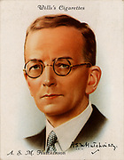 ASM (Arthur Stuart-Menteth) Hutchinson (1880-1971) British novelist and journalist.  His novel 'If Winter Comes' was a best seller in the United States in 1922.  From a series of cards of 'Famous British Authors' (London, 1937).