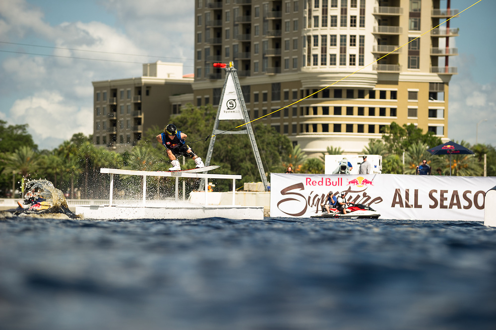 Oli Derome Competes at Red Bull Wake Open Park in Tampa Bay, Florida on July 14, 2012