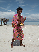 On Mantabuan island. Dido with melon.