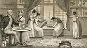 Gentelman and his family at home. En graving 1830