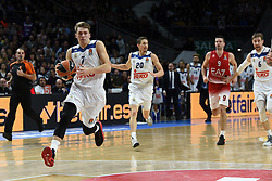 January 27, 2017 - Madrid, Madrid, Spain - Luca Doncic (L), #4 of Real Madrid in action during the Euroleague basketball match between Real Madrid and EA7 Emporio Armani Milano. (Credit Image: © Jorge Sanz GarcíA/Pacific Press via ZUMA Wire)