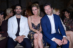 Tyler Hoechlin, Nicky Hilton Rotchild and Ian Bohen attending the Dundas D5 Haute Couture Paris Fashion Week Fall/Winter 2018/19 held in Paris, France on july 02, 2018. Photo by Aurore Marechal/ABACAPRESS.COM