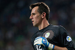 Jasmin Handanovic of Slovenia during qualification football match for World Cup 2014 in Brazil between national team of Slovenia and Switzerland, on September 7, 2012 in Ljubljana, Slovenia. (Photo by Matic Klansek Velej / Sportida.com)