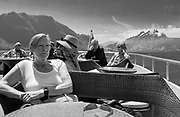 Lucerne, SWITZERLAND<br /> <br /> Passengers on the Upper Deck enjoy the views during a Day trip on lake Lucerne<br /> <br /> Wednesday  <br />  <br />   25.05.2017<br /> <br /> <br /> © Peter SPURRIER<br /> <br /> Panasonic  DMC-LX100  f5.6  1/500sec  35mm  4.7MB