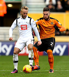 Johnny Russell of Derby County takes on Matt Doherty of Wolverhampton Wanderers - Mandatory by-line: Robbie Stephenson/JMP - 05/11/2016 - FOOTBALL - Molineux - Wolverhampton, England - Wolverhampton Wanderers v Derby County - Sky Bet Championship