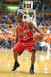 02 January 2004 Vince Greene plans his approach. Illinois State University ties up The Fightin Illini in regulation but fails to top the Big 10 team in overtime. Action took place at the Assembly Hall on the University of Illinois Campus in Champaign - Urbana Illinois.