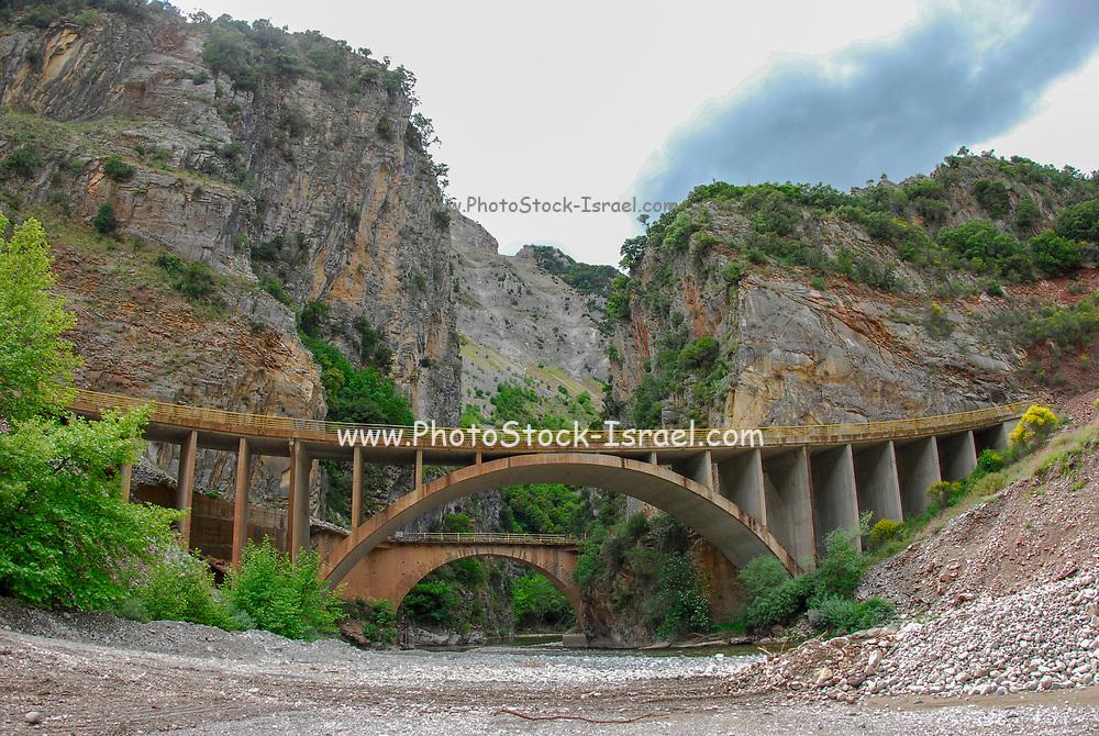 Concrete bridge in Northern Greece