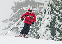 The combination of natural snow and man-made snow to Gunstock's trails have made for great early season conditions as they head into the holiday vacation week following Christmas.  (Karen Bobotas/for the Laconia Daily Sun)