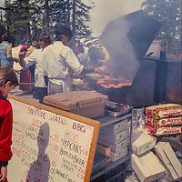 Outdoor barbeque at Copper Mountain Ski Area, Colorado.