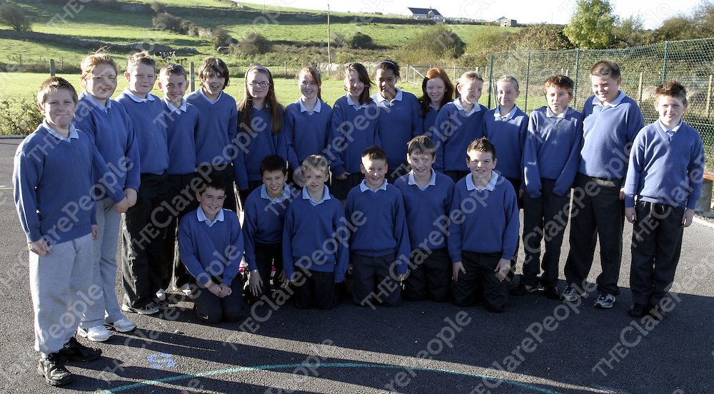 Confirmation Class, Scoil Mhainchin, Ennistymon.<br /> Picture ( Brendan Gleeson )