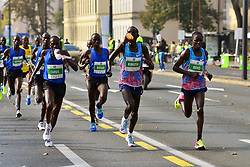 LJUBLJANA, Oct. 30, 2017  Kenyan athlete Marius Kimutai (2nd R) runs during the 22nd Ljubljana Marathon in Ljubljana, Slovenia, on Oct. 29, 2017. Almost 30,000 runners from Slovenia and abroad participated in the event. (Credit Image: © Matic Stojs/Xinhua via ZUMA Wire)