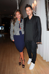 JADE JAGGER and DAN WILLIAMS at The Rodial Beautiful Awards in aid of the charity Kids Company held in the Billiard Room at The Sanderson, 50 Berners Street, London on 3rd February 2010.