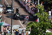 Jungels van Team Trek Factory Racing. In Utrecht is deTour de France van start gegaan met een tijdrit. De stad was al vroeg vol met toeschouwers. Het is voor het eerst dat de Tour in Utrecht start.<br /> <br /> In Utrecht the Tour de France has started with a time trial. Early in the morning the city was crowded with spectators. It is the first time the Tour starts in Utrecht.