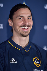 Zlatan Ibrahimovic during a press conference for Los Angeles Galaxy at the StubHub Center on March 30, 2018 in Carson, California