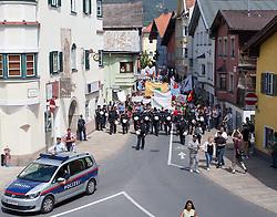 13.06.2015, Telfs, AUT, Demonstration gegen die Bilderbergkonferenz, im Bild eine Übersicht // a overview during a demonstration agiainst the bilderberg group in Telfs, Austria on 2015/06/13. EXPA Pictures © 2015, PhotoCredit: EXPA/ Jakob Gruber
