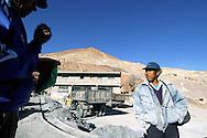 The miners of Cerro Rico PotosÏ are chewing coca before to entry in the mine