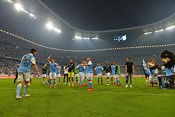 02.06.2015, Allianz Arena, Muenchen, GER, 2. FBL, TSV 1860 Muenchen vs Holstein Kiel, Relegation, Rückspiel, im Bild Jubel beim TSV 1860 Muenchen ueber den Sieg und den Klassenerhalt in der 2. Bundesliga // during the German 2nd Bundesliga relegation 2nd Leg Match between TSV 1860 Munich vs Holstein Kiel at the Allianz Arena in Muenchen, Germany on 2015/06/02. EXPA Pictures © 2015, PhotoCredit: EXPA/ Eibner-Pressefoto/ Hiermayer<br /> <br /> *****ATTENTION - OUT of GER*****
