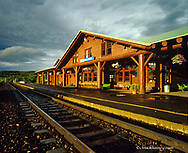 Train station depot in East Glacier Montana