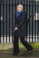 © Licensed to London News Pictures. 15/12/2015. London, UK. ANNA SOUBRY arrives for a cabinet meeting in Downing Street. Photo credit : Vickie Flores/LNP