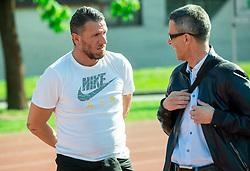 Sebastijan Cimerotic and Joze Okorn during practice session of NK Olimpija, on April 21, 2016 in Sports park Ljubljana, ZAK, Ljubljana, Slovenia. Photo by Vid Ponikvar / Sportida