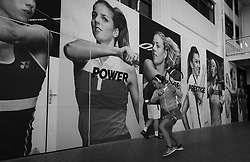 February 13, 2019 - Doha, QATAR - Barbora Strycova of the Czech Republic warms up for her second-round match at the 2019 Qatar Total Open WTA Premier tennis tournament (Credit Image: © AFP7 via ZUMA Wire)