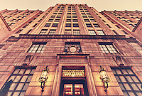 The Board of Education building was finished in 1930, it was designed by Irwin Catharine. Its classic Moderne, Art Deco, and Neoclassical interiors was converted into a residential building.