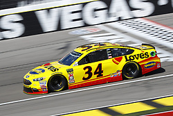 March 2, 2018 - Las Vegas, Nevada, United States of America - March 02, 2018 - Las Vegas, Nevada, USA: Michael McDowell (34) brings his race car down the front stretch during practice for the Pennzoil 400 at Las Vegas Motor Speedway in Las Vegas, Nevada. (Credit Image: © Chris Owens Asp Inc/ASP via ZUMA Wire)