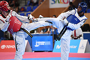 Dylan Chellamooto (FRA) competes on Men's Taekwondo competion during the Jeux Mediterraneens 2018, in Tarragona, Spain, Day 9, on June 30, 2018 - Photo Stephane Kempinaire / KMSP / ProSportsImages / DPPI