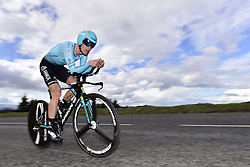 March 7, 2018 - Saint Etienne, France - SAINT-ETIENNE, FRANCE - MARCH 7 : NIELSEN Magnus Cort  (DEN)  of Astana Pro Team in action during stage 4 of the 2018 Paris - Nice cycling race, an individual time trial over 18,4 km from La Fouillouse to Saint-Etienne on March 07, 2018 in Saint-Etienne, France, 7/03/2018 (Credit Image: © Panoramic via ZUMA Press)