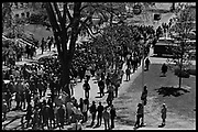 Madison, WI – May, 1970. On May 1, 1970, there was a general student strike in response to the news that the U.S. had expanded bombing into Cambodia. There was a march against the war, led by Veterans for Peace in Vietnam; and after the May 4 shootings at Kent State University in Ohio, there were more protests at UW Madison, which led to the police being called in, and teargassing demonstrators in the streets and on campus.