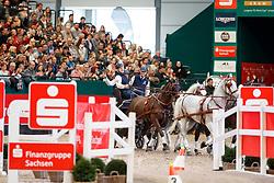 Geerts Glenn, BEL, Maestoso Li10, Maestoso Xiv, Silver, Szellem<br /> Leipzig - Partner Pferd 2018   <br /> FEI World Cup Driving<br /> © Hippo Foto - Stefan Lafrentz<br /> 21/01/2018