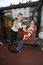 Kids playing. (Photo by Vid Ponikvar / Sportida)