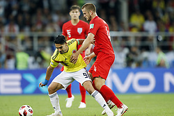 (l-r) Radamel Falcao Garcia of Colombia, Eric Dier of England during the 2018 FIFA World Cup Russia round of 16 match between Columbia and England at the Spartak stadium  on July 03, 2018 in Moscow, Russia