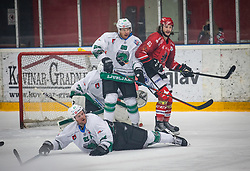 63# Philippe Paradis of HK SIJ Acroni Jesenice during ice hockey match between HK SIJ Acroni Jesenice and HK SZ Olimpija in Round #12 of Alps Hockey League 2018/19 , on October 27, 2018 in Podmezakla hall , Jesenice, Slovenia. Photo by Urban Meglic / Sportida