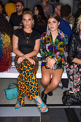 Tiger Lilly Taylor and Molly Moorish on the front row during the Ashish Spring/Summer 2019 London Fashion Week show at the BFC show space, London. Picture date: Sunday September 16th, 2018. Photo credit should read: Matt Crossick/ EMPICS Entertainment.