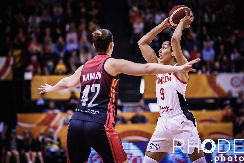 Miranda Ayim (CAN)<br /> <br /> Day 1 – CANADA (CAN) vs BELGIUM (BEL): 61-56<br /> <br /> FIBA Women's Olympic Qualifying Tournament 2020 – Ostend,  Belgium<br /> Ostend Versluys Dôme (BEL)<br /> <br /> ©RhodePhotoMedia