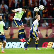 Fenerbahce's players during their Turkish superleague soccer derby match Galatasaray between Fenerbahce at the AliSamiYen spor kompleksi TT Arena in Istanbul Turkey on Saturday, 18 october 2014. Photo by Aykut AKICI/TURKPIX