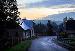 CZECH REPUBLIC VYSOCINA NEDVEZI 31OCT09 - Perspective in the village of Nedvezi, Vysocina, Czech Republic. ..jre/Photo by Jiri Rezac..© Jiri Rezac 2009