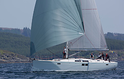 Sailing - SCOTLAND  - 27th May 2018<br /> <br /> 3rd days racing the Scottish Series 2018, organised by the  Clyde Cruising Club, with racing on Loch Fyne from 25th-28th May 2018<br /> <br /> GBR3985L, Grey Goose, Keith Salters, Royal Ulster YC, Hanse 505<br /> <br /> Credit : Marc Turner<br /> <br /> Event is supported by Helly Hansen, Luddon, Silvers Marine, Tunnocks, Hempel and Argyll & Bute Council along with Bowmore, The Botanist and The Botanist